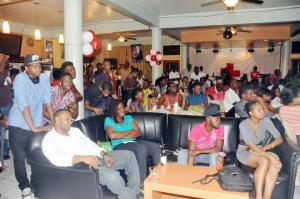 A section of the crowd on Upscale on Poetry nights